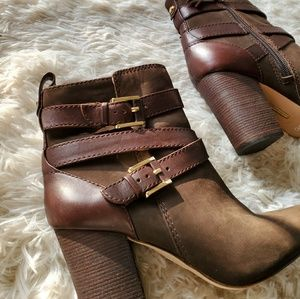 Louise et Cie Olive Brown Ankle Boots